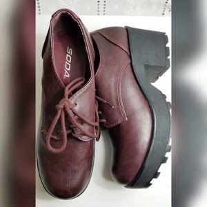 90s/Y2K Soda Platform Heel Oxfords